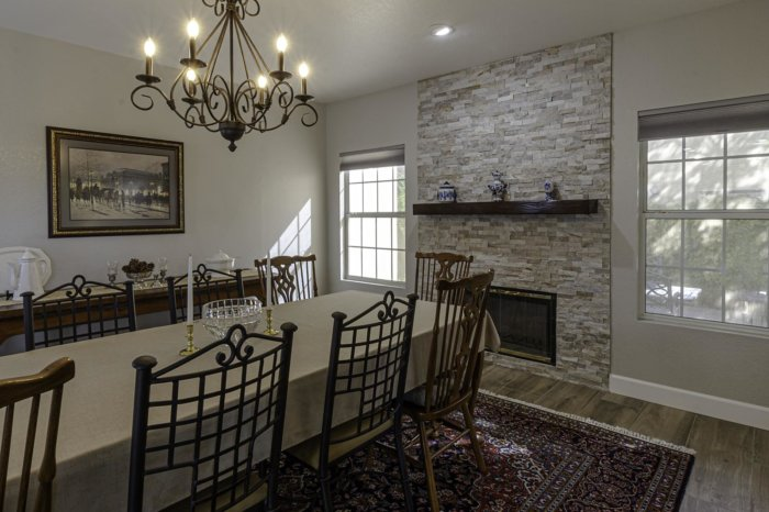 Beautiful Dining Room and Fireplace Remodel Weeks and Mitchell Home Remodeling