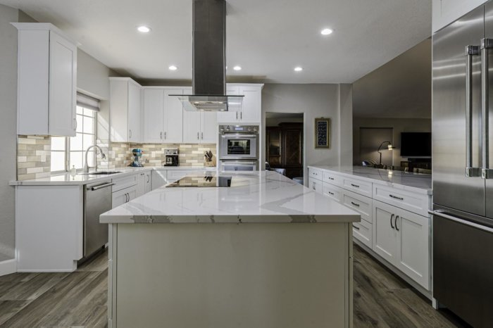 White and Stainless Steel Kitchen Remodel by Weeks and Mitchell Phoenixs Premier Home Remodeling Company
