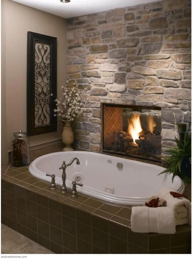Bathroom Fireplace Bath Remodeling Ideas