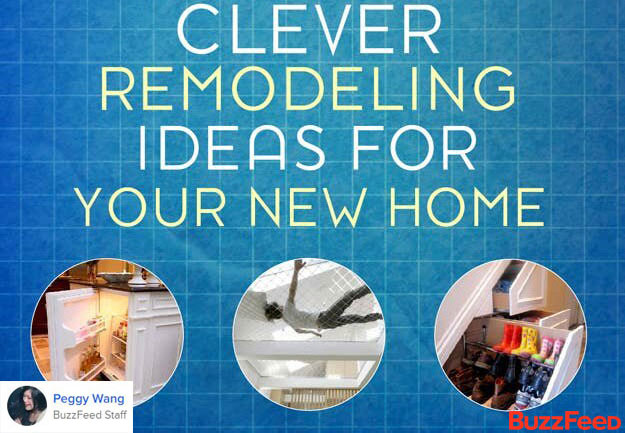 Clever Remodeling Ideas by Peggy Wang from Buzzfeed