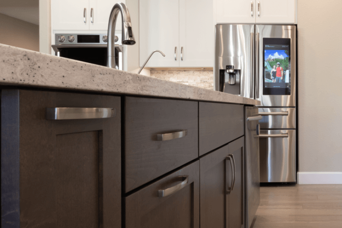 Beautiful Dark Wood Island Cabinets - Kitchen Renovation Phoenix