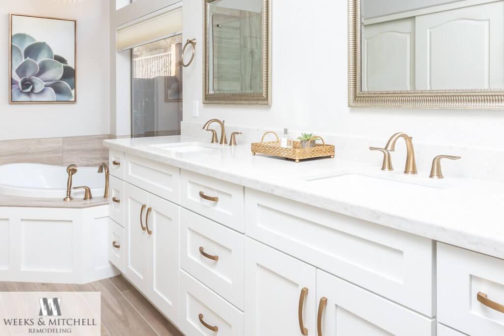 Luxury master bathroom with drop in tub